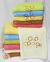 Полотенце для лица и рук Круги молочные
