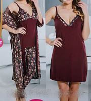Набор женский халат + ночнушкаи и пижама 13740