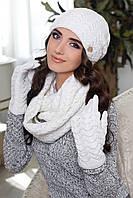 Комплект Франческа (шапка, шарф-снуд и перчатки) 4302-38