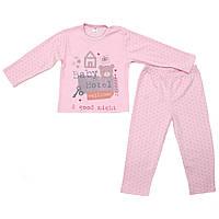 Пижама детская для девочки Minikin 15298 розовая