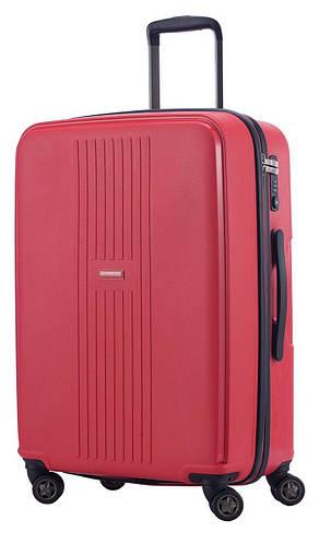 Красный 4-колесный средний чемодан 71 л. HAUPTSTADTKOFFER FHain midi red