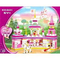"""Детский конструктор SLUBAN, M 38 B 0251 """"Замок принцессы"""" 385 деталей"""