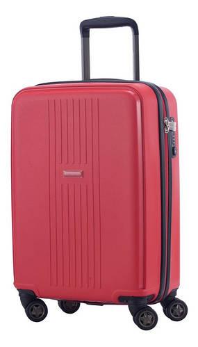 4-колесный дорожный малый чемодан 37 л. HAUPTSTADTKOFFER FHain mini red красный