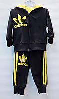 Спортивный костюм тройка для мальчика 1-3 года Adidas черный