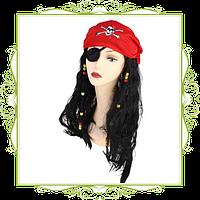 Бандана пиратки с волосами