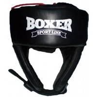 Шлем боксёрский, для бокса, единоборств, L,кожа
