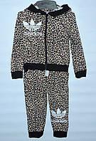 Спортивный костюм для девочки 2-6 лет Adidas леопард