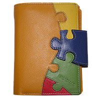 Портмоне женское Buono Leather (кожа), 02-4955-ORANGE Оранжевый, размер 10*13,5*2