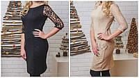 Платье женское с гипюром, разные размеры и цвета