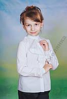 Блуза для девочки белая, разные размеры