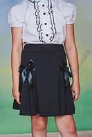 Школьная юбка с бантами, р-ры от 128 до 152