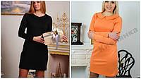 Платье короткое с воротником, разные размеры