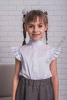 Стильная блузка для девочки белая, разные размеры
