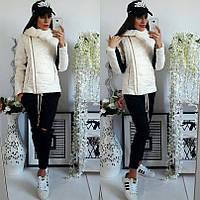Демисезонная женская курточка воротник с отворотом