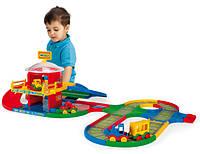 Детская игрушка парковка Kid Cars вокзал с дорогой 5м Wader