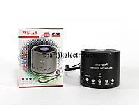 Портативная MP3 колонка SPS WS A8, мобильная колонка с fm приемником, музыкальная мини колонка