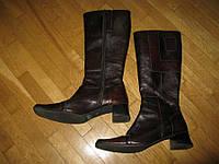 Сапоги кожаные LAN KARS, 24,5 см, в хорошем сост.