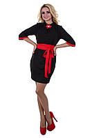 Платье «Элегия кукуруза»черное с красным.