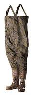 Полукомбинезон рыбацкий ПС 15 ПК, ПВХ, камуфляж, влагоотводящая подкладка, подтяжки, обувь 41-47