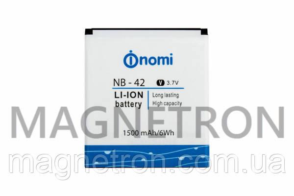 Аккумуляторная батарея NB-42 Li-ion 1500mAh для телефонов Nomi i401 Colt, фото 2