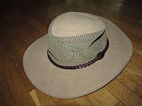 Шляпа JACARU AUSTRALIA, КОЖАНАЯ, КОВБОЙ, 59-60 р.