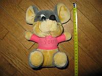 Мышка L LOVE YOU, мягкая игрушка