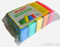 """Кухонные губки макси Комфорт(5 шт/уп) """"Минута Дела"""" Разные цвета"""