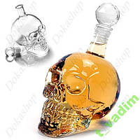 Cтеклянная бутылка-череп декор для домашнего бара