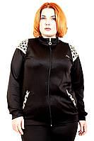 """Женская спортивная кофта""""Лоран"""" (черный) (48-56), фото 1"""
