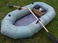 Надувная лодка Лисичанка полуторная, 210*100 см, деревянные сидения, насос