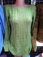 Женская кофта свободного кроя из акрила и шерсти