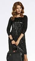Женское модное платье черного цвета. Модель 220062 Enny, коллекция осень-зима 2016-2017.
