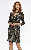 Женское гипюровое платье с вискозной подкладкой черного цвета. Модель 220064 Enny, каталог осень-зима 2017.