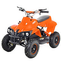 Детский железный квадроцикл Profi HBEATV 800 C-7 4 фары (оранжевый)