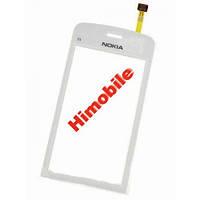 Сенсор тачскрин Nokia C5-03 C5-06 белый High Copy