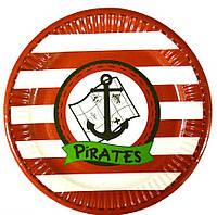 Тарелка одноразовая Пираты