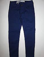 Классические котоновые брюки для девочек синие 6-16 лет. В остатке 6,8,10 лет.