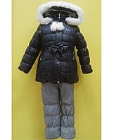 Goldy Комплект для дівчинки 28-3Д-16 (куртка+напівкомбінезон) р80,86,92,98,104 темно-синій/сірий, ов