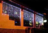 Гирлянда-штора Curtain Light, 600 свеотдиодов, белая
