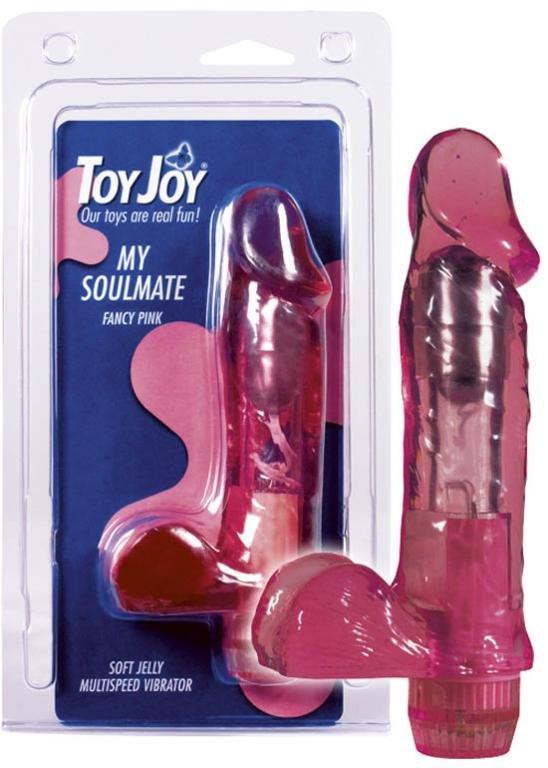 Вибратор гелевый с яичками Водонепроницаем Toy Joy