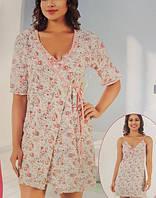 Женский комплект халат с ночной рубашкой SIS-134