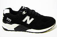 Женские кроссовки New Balance, замш, черные Р.  37