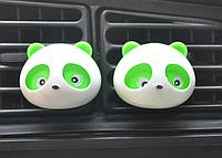 """Автомобильный освежитель воздуха """"Панда"""" Салатный  2шт / компл. Ароматизатор в машину"""