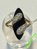 Кольцо с агатом (оникс),585 проба