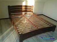 """Двоспальне ліжко """"Венеція люкс"""" з натурального дерева бук щит"""