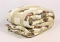 Двуспальное одеяло бязь/шерсть 003