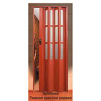 Дверь-гармошка пластиковая SYMFONY (темное красное дерево) 2,03*0,86 м