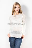 Кофта пуловер женская белая Роксолана р.46