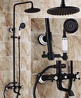 Соверменная душевая стойка в ванную Deco Black черный