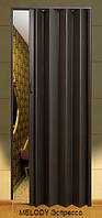 Дверь-гармошка пластиковая MELODY (эспрессо) 2030х820 мм